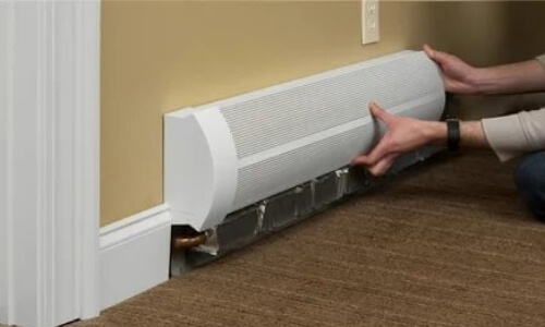 Adjusting Hot Water Baseboard Heater