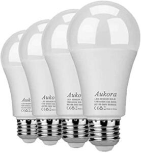 Aukora Cold White Dusk to Dawn Security Light Bulb