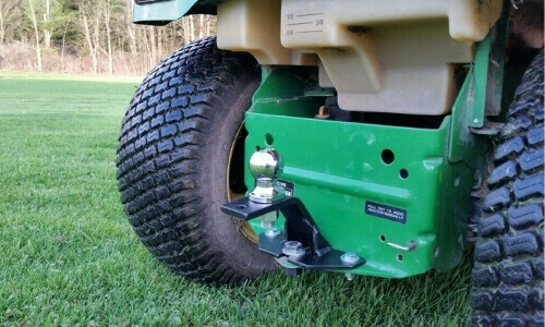 Ball Hitch On A Lawn Mower